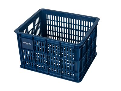 Basil Crate M - Plast kurv - Til opbevaring eller bagagebærer - Bluestone