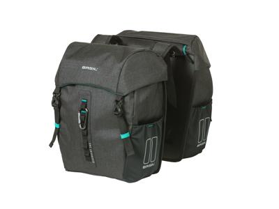 Basil Discovery 365D - Cykeltasker til bag - Double - 18 liter - Black melee