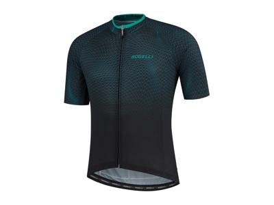 Rogelli Weave - Cykeltrøje - Korte ærmer - Sort/Grøn