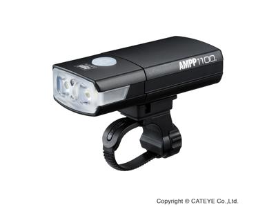 Cateye AMPP Forlygte - 1100 lumen - USB Opladelig - Sort