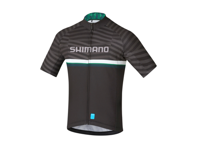 Shimano Team Junior - Cykeltrøje med korte ærmer - Blå/Grøn