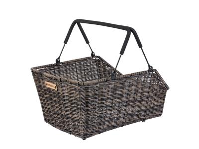 Basil Cento - Cykelkurv til bag - Nature brown - Rattan look MIK