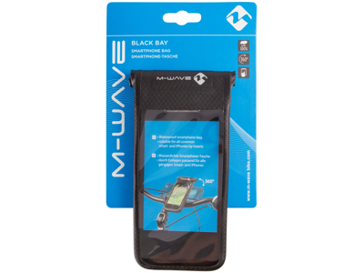 M-Wave Canada Black Bay - Mobilholder - 100% vandtæt - 360° drejebeslag - passer til flest