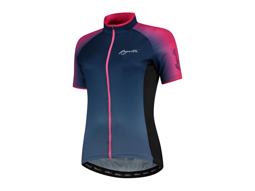 Rogelli Glow - Cykelbluse - Dame - Race Fit - Blå/Pink - Str. L thumbnail