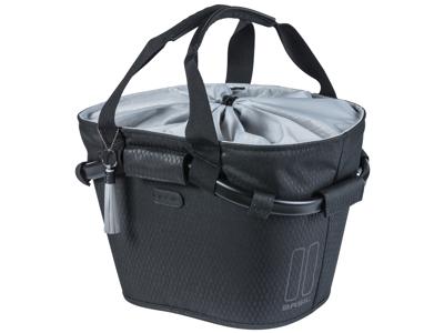 Basil Noir Carry All - Cykelkurv - 15 liter - Midnight black