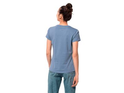 Jack Wolfskin At home - T-Shirt Dame - Vasket blå