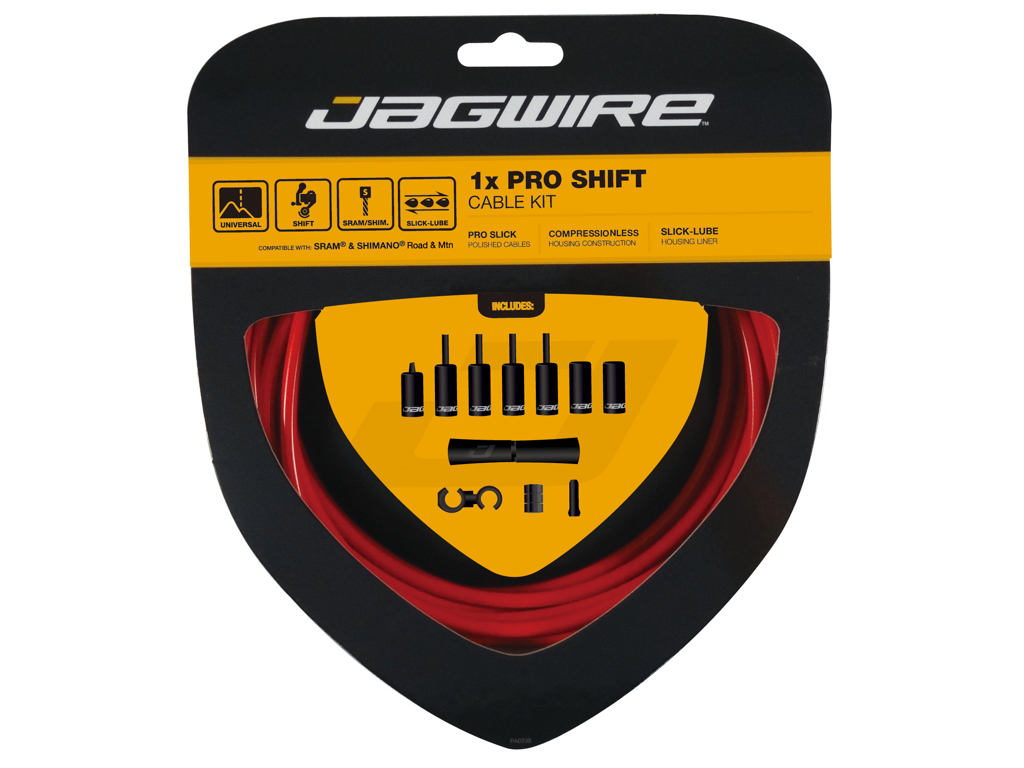 Image of   Jagwire - Pro Shift - 1x Gearkabel sæt - Road/MTB - Rød