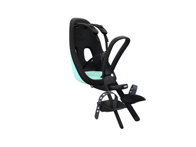 Thule Yepp Nexxt Mini - Cykelstol med 5-punktssele - Formonteret - Sort/mint