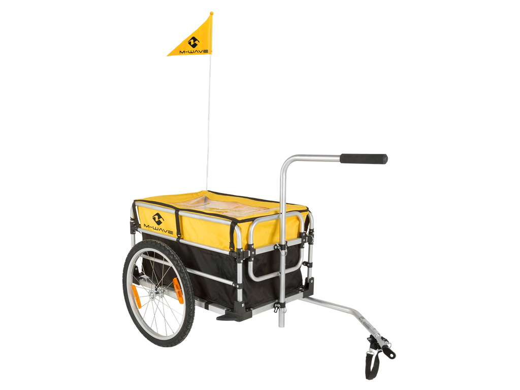 Køb M-Wave Stalwart Carry Fold 1 – Cykeltrailer – Foldbar – Pulverlakeret aluminiumstel