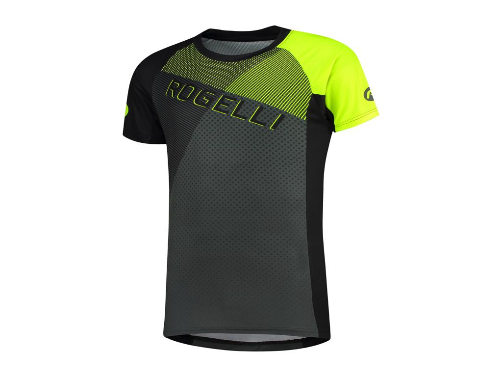 Rogelli Adventure - Cykeltrøje MTB - Korte ærmer - Sort/Grå/Gul - Str. 2XL thumbnail