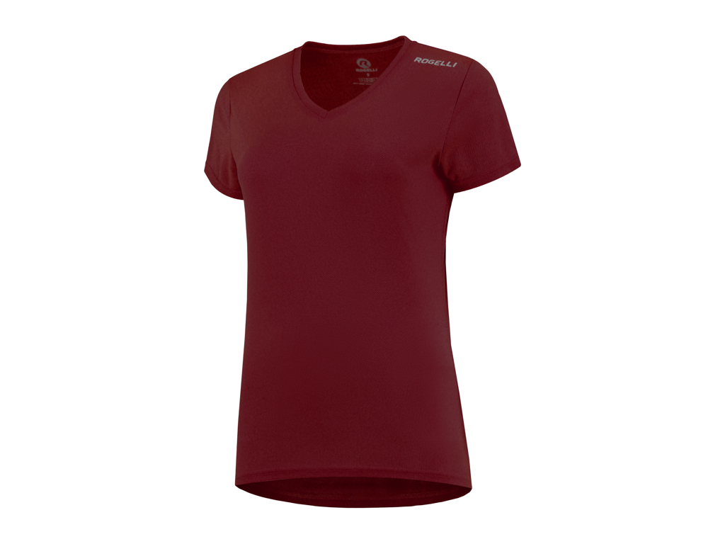 Image of   Rogelli Promo - Sports t-shirt - Dame - Bordeaux - Str. XS