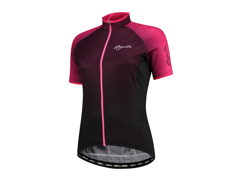 Image of   Rogelli Glow - Cykelbluse - Dame - Race Fit - Bordeaux/Pink - Str. XS