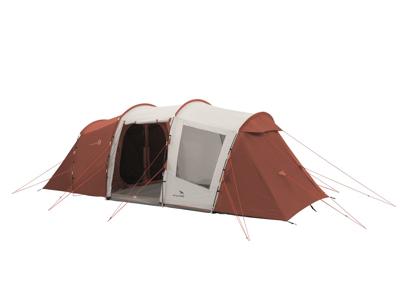 Easy Camp Huntsville Twin 600 - Telt Med 3 Kabiner - 6 Personer - Rød