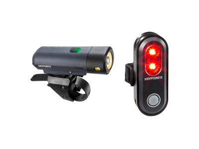 Kryptonite Street - Bike Light Kit F500 og R45 - USB Oppladbar