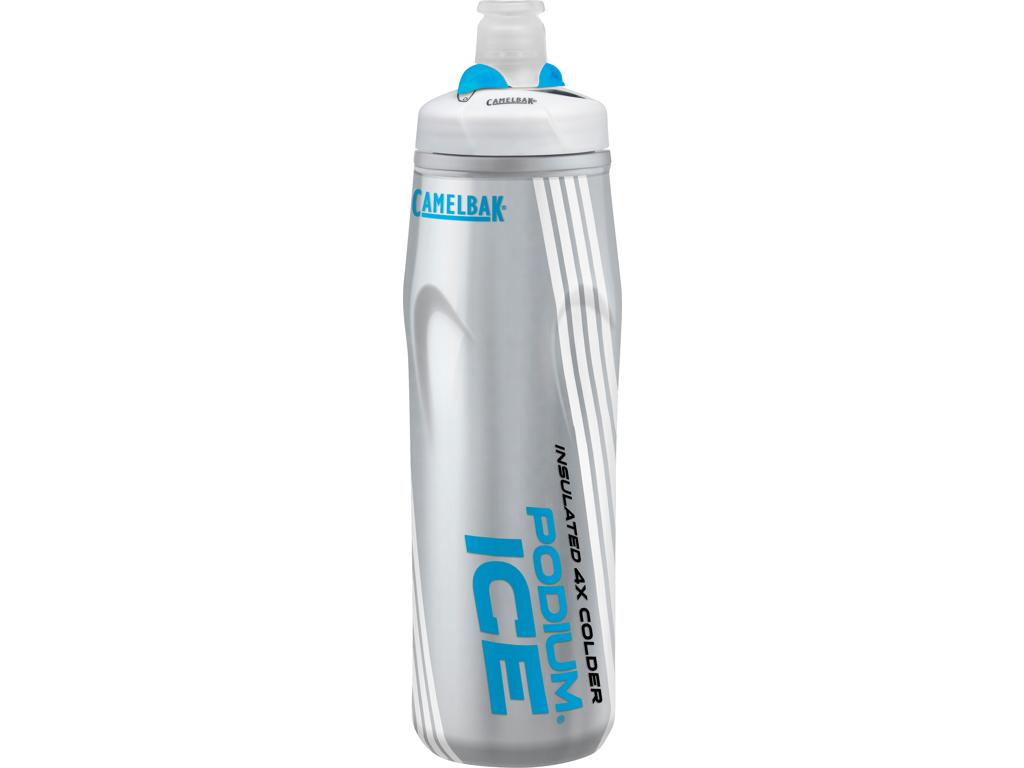 Image of   Camelbak Podium Ice - Drikkeflaske 0,62 liter - 100% BPA fri - Sølv/Blå