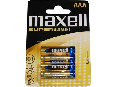Maxell - Batteri - AAA/LR03 Alkaline S - 4 stk