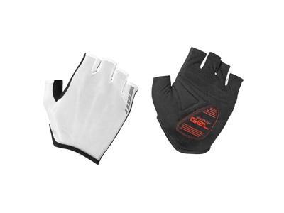 GripGrab Solara Tan Through - Polstret kortfingret handske - Hvid