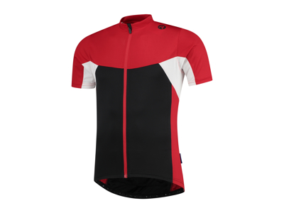 Rogelli Recco 2.0 - Cykeltrøje - Korte ærmer - Sort/Rød/Hvid