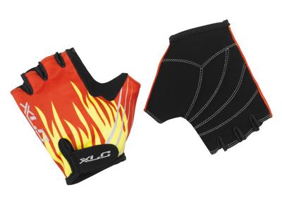 XLC - Cykelhandske til børn - Sort med ild