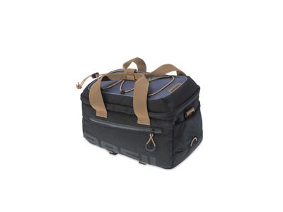 Basil Miles - Cykeltaske til bagagebærer - 7 liter - Black/grey