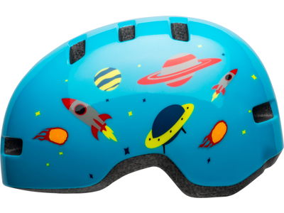 Bell Lil Ripper - Cykelhjelm - Space Glans lysblå - Str. 48-55 cm