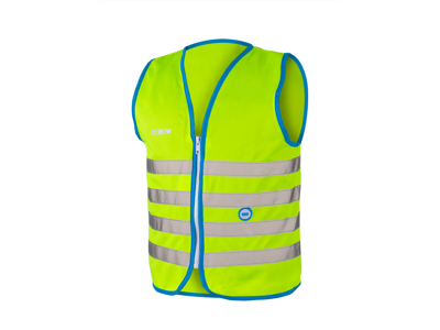 WOWOW Fun jacket - Refleksvest med lynlås til børn - Grøn