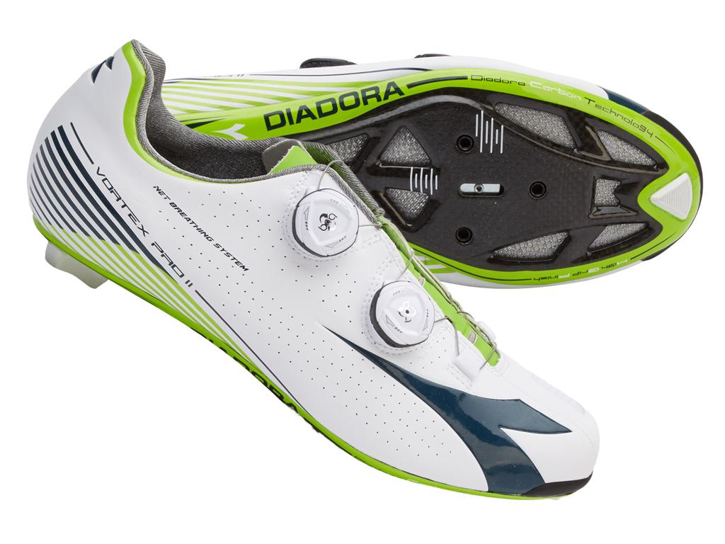 Image of   Diadora Vortex Pro II - Cykelsko - Hvid/Blå - Str. 37