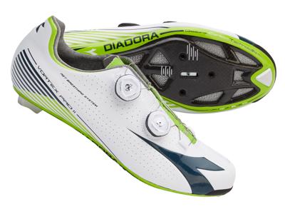 Diadora Vortex Pro II - Cykelsko - Hvid/Blå