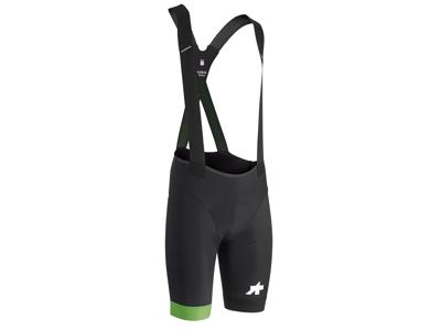 Assos Equipe RS Bib Shorts S9 - Cykelshorts m. pude - Sort/grøn