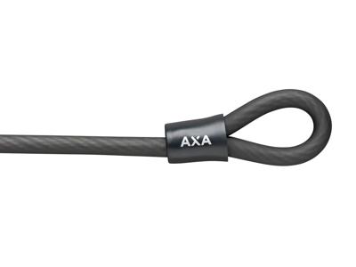AXA Double Loop 120/10 - Dobbelt loop-kabel - 120 cm - Sort