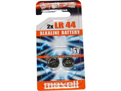 Maxell - Batteri - LR44 Alkaline 1,5v - 2 stk