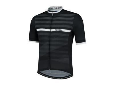 Rogelli Stripe - Cykeltrøje - Korte ærmer - Sort/Hvid