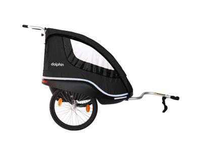 Winther Dolphin XL - Cykelanhænger til børn - Sort