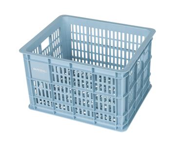 Basil Crate M - Plast kurv - Til opbevaring eller bagagebærer - Silver cloud