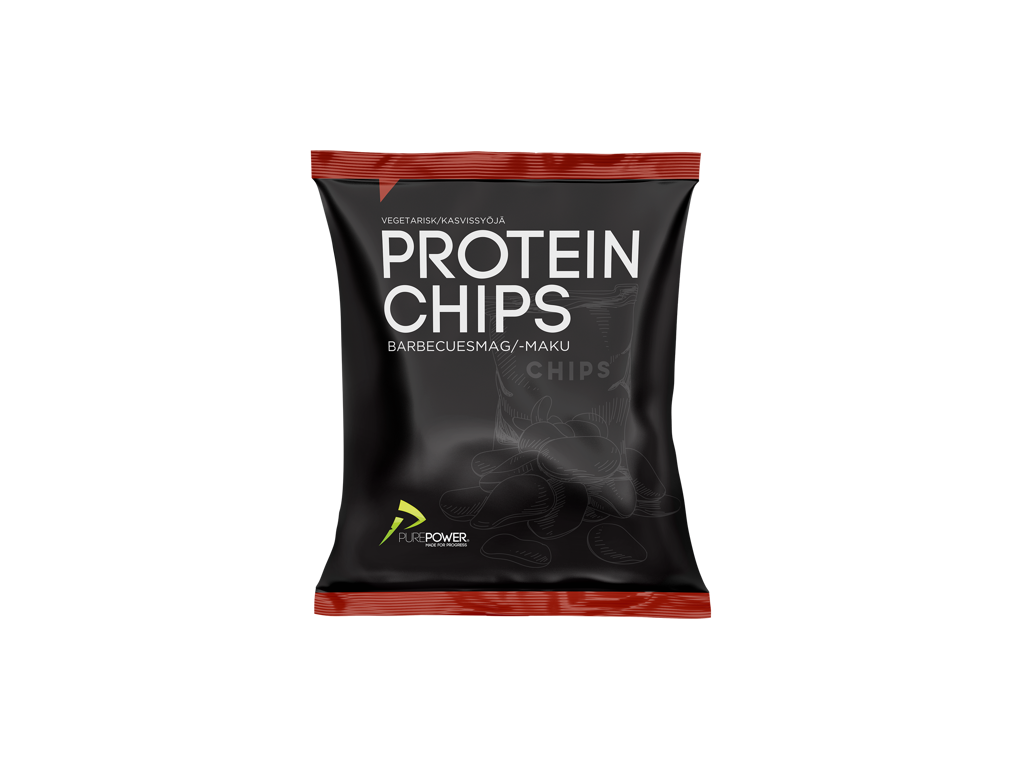 PurePower Protein Chips - Barbecue - 20 gram