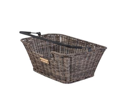 Basil Capri - Cykelkurv til bag - Nature brown - Rattan look