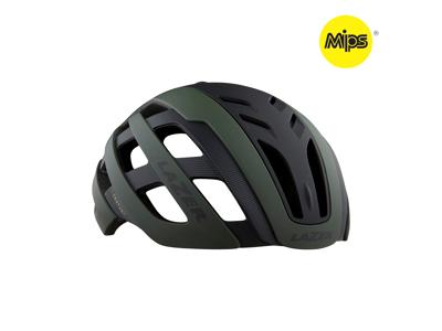 Lazer Century MIPS - Cykelhjelm Road med lys - Mat mørkegrøn