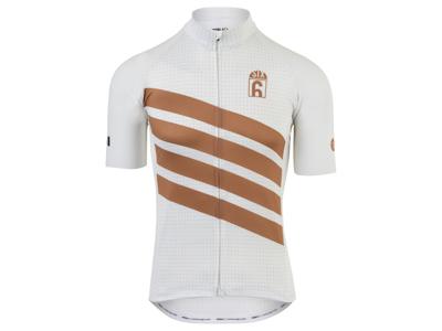 AGU - Classic - Cykeltrøje med korte ærmer - Hvid/Guld