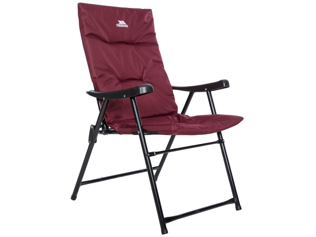 Image of   Trespass Paddy - Camping stol - Foldbar - Stål ramme - Rødbrun