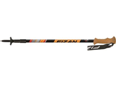 Fizan Tierra - Trekking vandrestave - 2 stk. - Sort/Orange