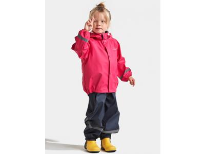 Didriksons Slaskeman Kids Set - Regntøj - Pink