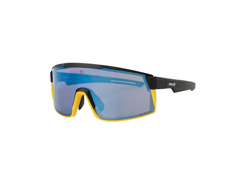 Image of   AGU - Verve - Sports- og Cykelbrille - 3 sæt linser - Mat Sort/Gul