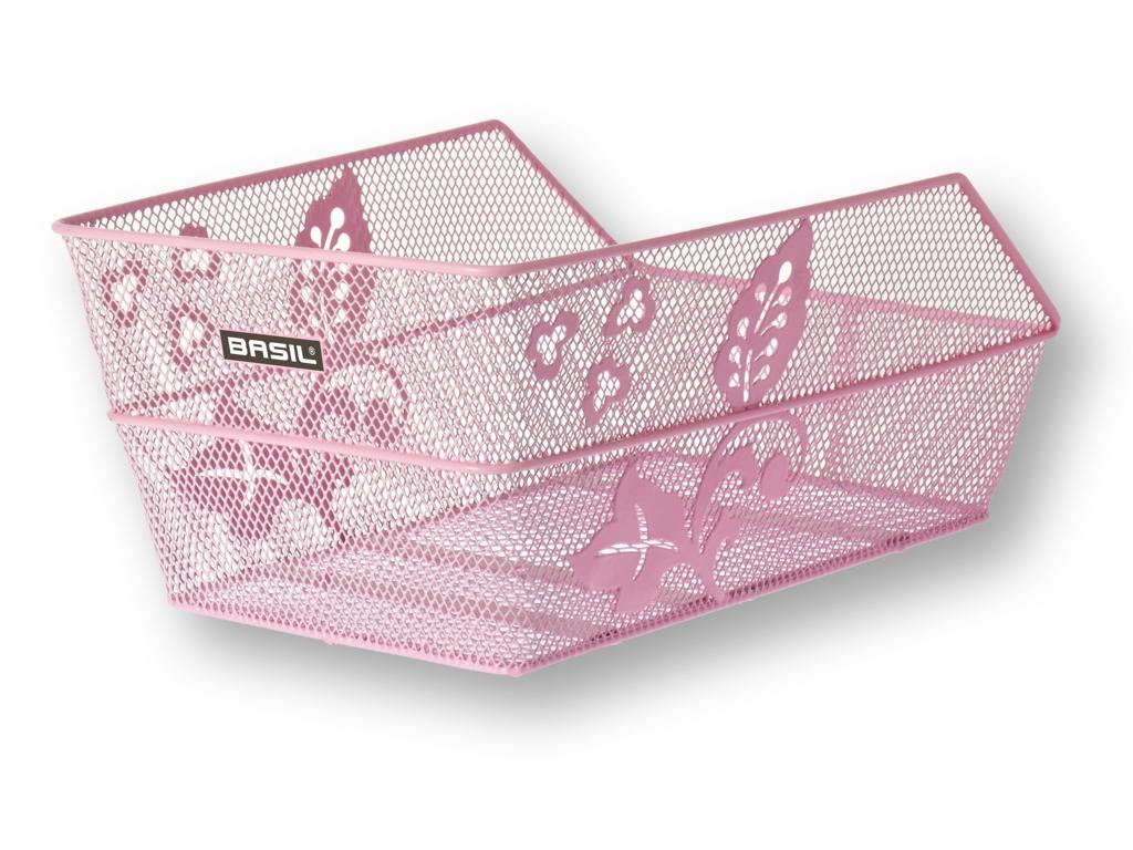 Basil Cento Flower - Cykelkurv til bag - Pink thumbnail