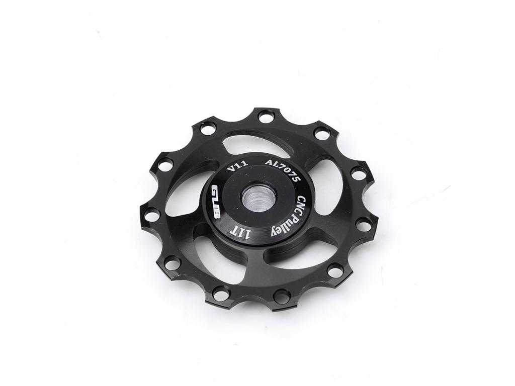 Køb GUB – Pulleyhjul – 11 tands – 1 stk. – CNC aluminium – Sort