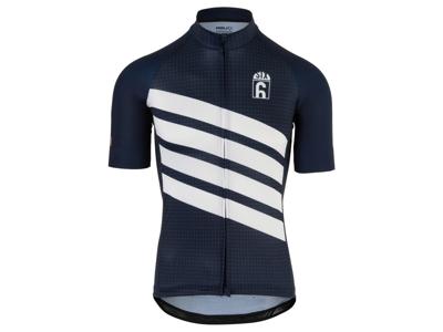 AGU - Classic - Cykeltrøje med korte ærmer - Blå/Hvid