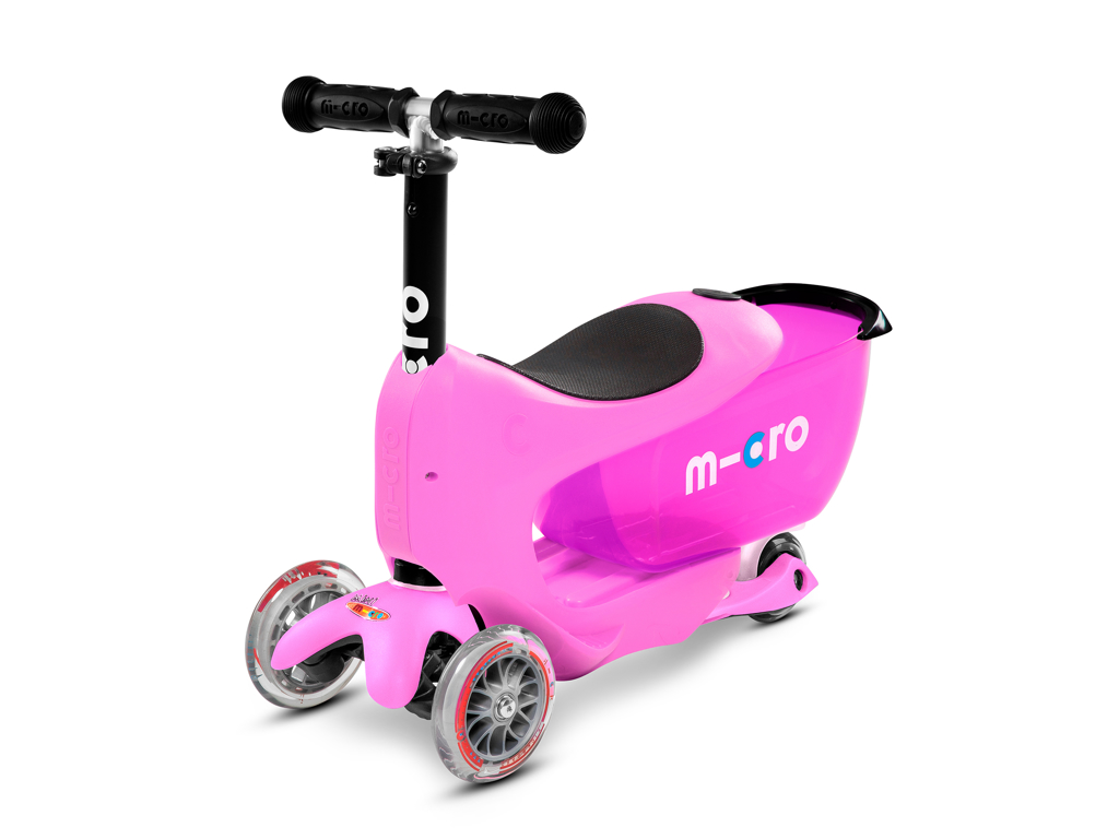 Image of   Micro Mini2go - Løbehjul Deluxe Plus - Pink