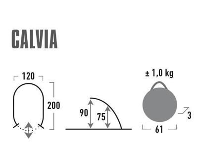High Peak Calvia - Pop up strandtelt - Blå/grå
