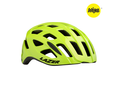 Lazer Tonic MIPS - Cykelhjelm Road - Flash gul