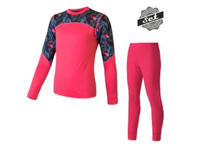 Sensor Merino Impress - Merinoulds undertøjssæt - Junior - Pink