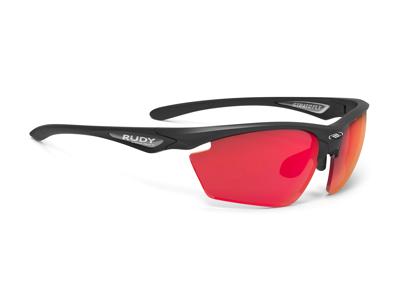 Rudy Project Stratofly - Løbe- og cykelbrille - Multilaser red linser - Mat sort